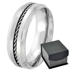 Other - Men's Rope Twist Center 8 mm New Wedding Band Ring